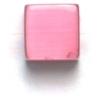 Cat Eye Beads 8mm Square Dark Pink Fiber Optic Cube